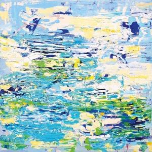 Gossia ZIELASKOWSKA (ur. 1983), Blue Afterimage Map, 2015