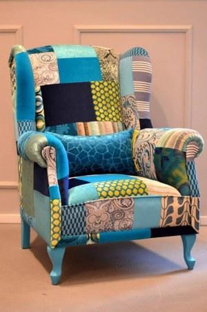 Juicy Colors, Uszak Patchwork Blue