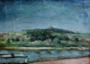 Aneri Irena Weissowa (1888-1981), Widok na Kopiec Kościuszki (Nad Wisłą), 1917