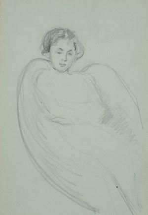 Włodzimierz Tetmajer (1861 - 1923), Młoda kobieta siedząca w fotelu, ok. 1900