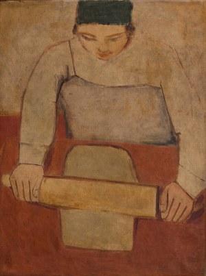 Jerzy NOWOSIELSKI (1923-2011), Kobieta wałkująca ciasto, 1949