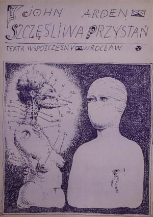 """Franciszek STAROWIEYSKI (1930-2009) – projektant, Plakat do spektaklu """"Szczęśliwa przystań"""""""