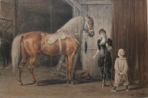 Otto Eerelman wg (1839-1926), W cyrkowej stajni