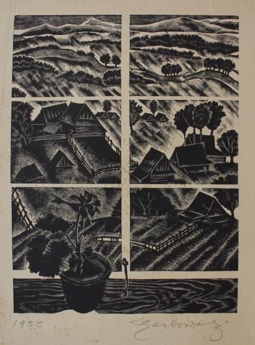 Ludwik Gardowski (1890-1965), Okno z doniczką(1933)