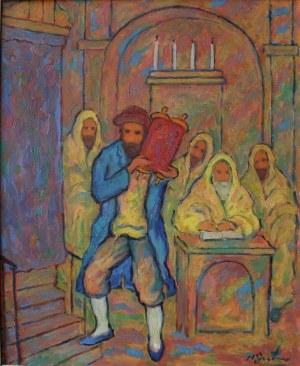 Nathan Gutman (1900-1990), W synagodze