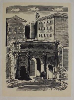 Edward Antoni Manteuffel (1908-1940), Łuk Septymiusza Sewera na Forum Romanum w Rzymie