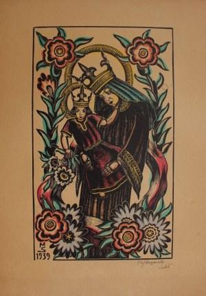 Stefan Mrożewski (1894-1975), Madonna z Dzieciątkiem, Chrystus w Ogrójcu, Ukrzyżowanie(1939/1940)