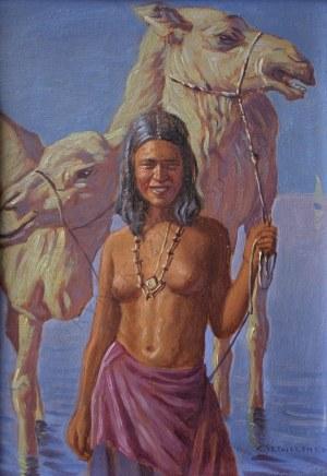 Konstanty Szewczenko (1910-1991), Beduinka z wielbłądami