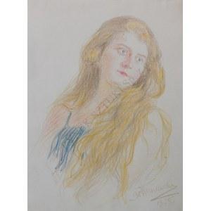Bronisław Wiśniewski (1866-1939), Portret młodej kobiety (1925)