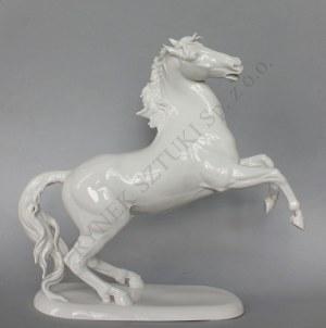 Figurka-Koń stający dęba(Niemcy,Selb-Plossberg, III ćw.XX w.),
