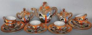 Serwis orientalny do herbaty dla 6 osób (Japonia, ok.poł.XX w.)