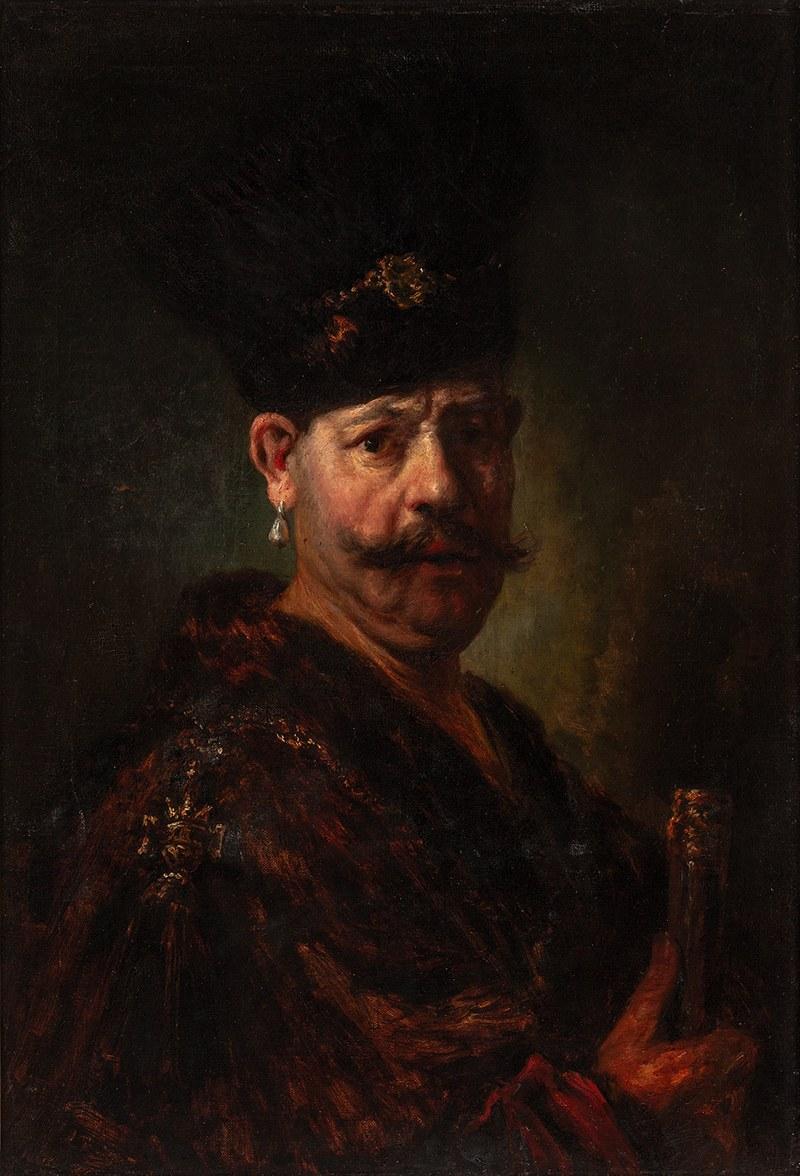 Teodor Buchholz (1857 Włocławek-1942 Leningrad), Portret Andrzeja Reja - wnuka Mikołaja Reja, wg Rembrandta van Rijn