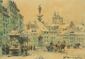 Władysław Chmieliński (1911 Warszawa – 1979 tamże), Plac Zamkowy z kolumną Zygmunta