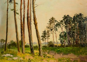Leonard Winterowski (1868 Kraków - 1927), Pejzaż leśny