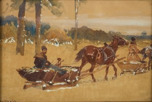 Adam Setkowicz (1875 Kraków - 1945 tamże), W drodze przez las
