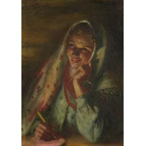 Sylweriusz Saski (1864 Nottingham – 1954 Kraków), Dziewczyna pisząca list