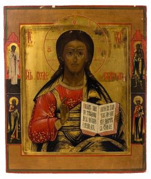 Ikona - Chrystus Pantokrator, XIX/XX w