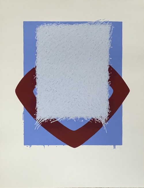 BERNDT Brenner mixmedia grafika 65,5x60 cm 1967