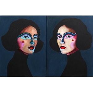 "Viola Bąbol, ""Pola i Luna"" dyptyk, 2019"