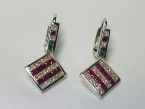 Kolczyki z rubinami