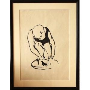 Otto Axer, Bez tytułu (Kobieta piorąca)