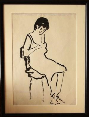 Otto Axer, Bez tytułu (Kobieta siedząca)