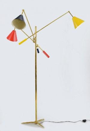 Lampa trójramienna z regulacją wysokości