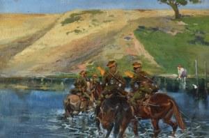 Jerzy KOSSAK (1886-1955), Przejście przez rzekę, 1931