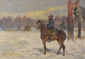 Jerzy KOSSAK (1886-1955), Ułan na koniu, 1943