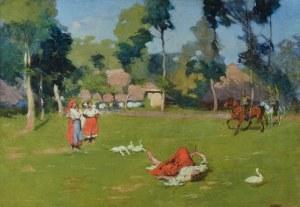 Włodzimierz TETMAJER (1862-1923), Wiejska scena rodzajowa