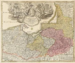 Johann Baptist HOMANN (1664-1724), Regnum Borussiae Gloriosis auspicijs Serenissimi … [MAPA PRUS]