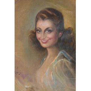 Józef KIDOŃ (1890-1968), Portret kobiety, 1945