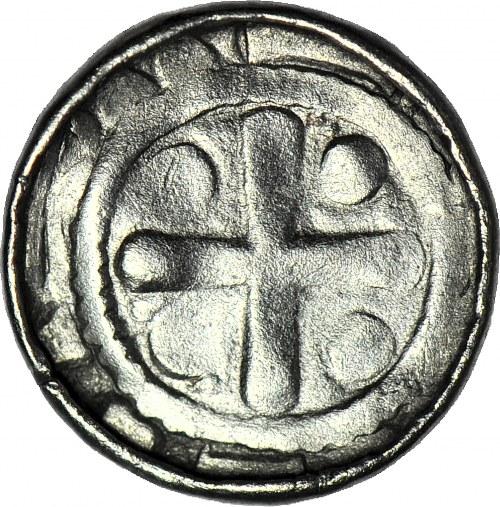 R-, Polska, Denar krzyżowy, krzyż prosty/krzyż maltański
