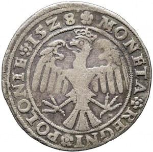 R-, Zygmunt I Stary, Pierwszy Polski Trojak 1528, Kraków, R5