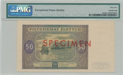 50 złotych 1946 SPECIMEN S 0000000, b. rzadki