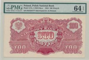 100 złotych 1944 ...owe, rzadka ser. zastępcza Rd