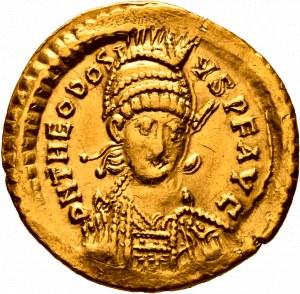 Teodozjusz II 402-450, solidus 443, Konstantynopol