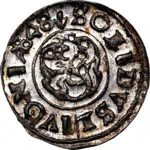 Krystyna Waza, szeląg 1648, WYŚMIENITY