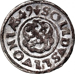 Krystyna Waza, szeląg 1649, WYŚMIENITY