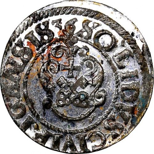 Krystyna Waza, szeląg 1636, WYŚMIENITY