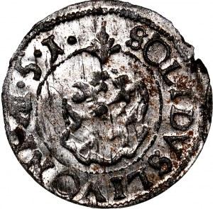 Krystyna Waza, szeląg 1651, WYŚMIENITY