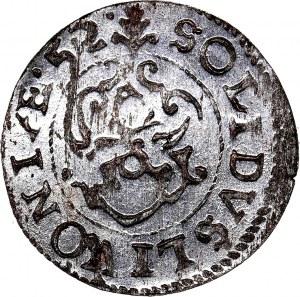 Krystyna Waza, szeląg 1652, WYŚMIENITY