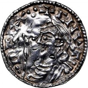 Anglia, Knut 1016-1035, denar typu short cross