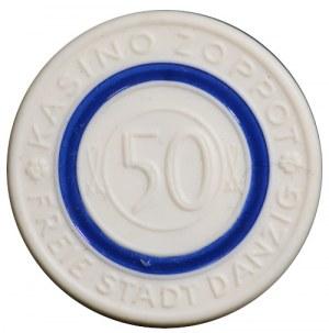 Wolne Miasto Gdańsk, Kasyno Sopot, 50 guldenów bez daty (1924-1939), Miśnia