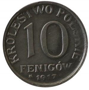 10 Fenigów 1917 - napis blisko obrzeża