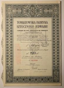Tomaszowska Fabryka Sztucznego Jedwabiu 1929 120 Złotych