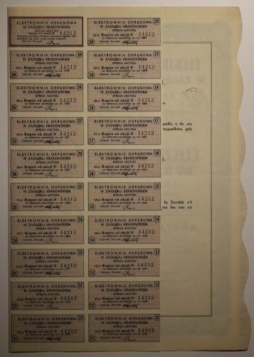 Akcja 100 zł, Elektrownia Okręgowa w Zagłębiu Krakowskim 1935