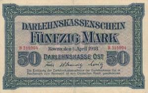 50 marek 4.04.1918, Kowno, seria B