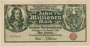 10.000.000 marek 31.08.1923, Gdańsk
