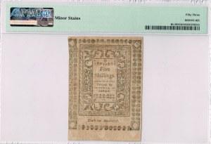 1786 5 Shillings RHODE ISLAND